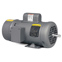 Baldor-Reliance 17.11 in. Overall Length and 74 Power Factor Short-Series Brake AC Motor