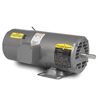 Baldor-Reliance 15.64 in. Overall Length and 70 Power Factor Short-Series Brake AC Motor