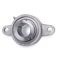 Grip Tight Adapter Mount Bearings, Ez Kleen Bearings Flange, 2 Bolt