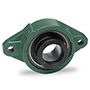 2 Bolt Air-Handling, Set Screw, or SXR Eccentric Collar Flange Bearings